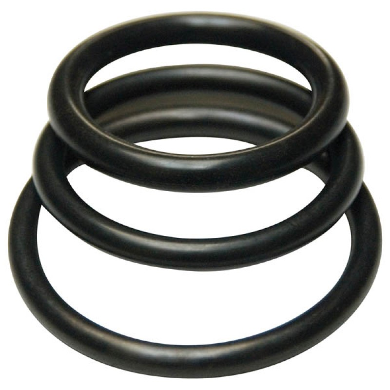 KinkLab Rubber Cock Rings 3-Pack