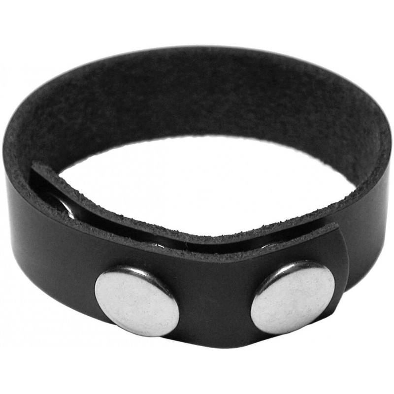 KinkLab 3 Snap Leather Cock Ring