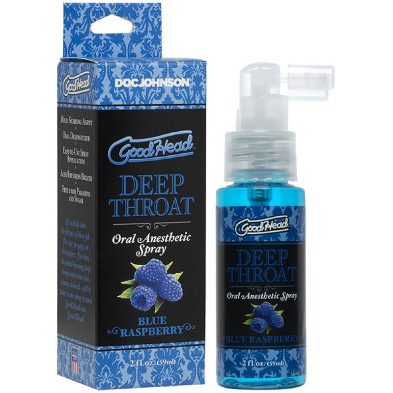 GoodHead Deep Throat Spray 59ml - Blue Raspberry