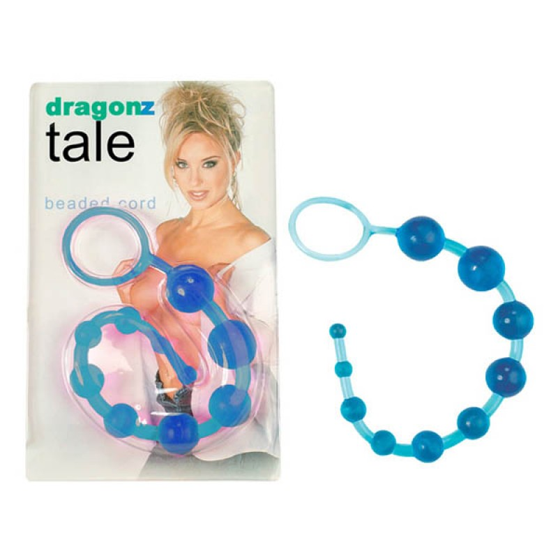 Dragonz Tale Blue Jelly Beaded Anal Cord