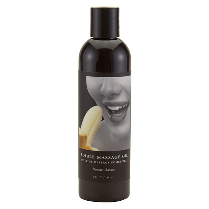 Edible Massage Oil 237 ml Bottle - Banana