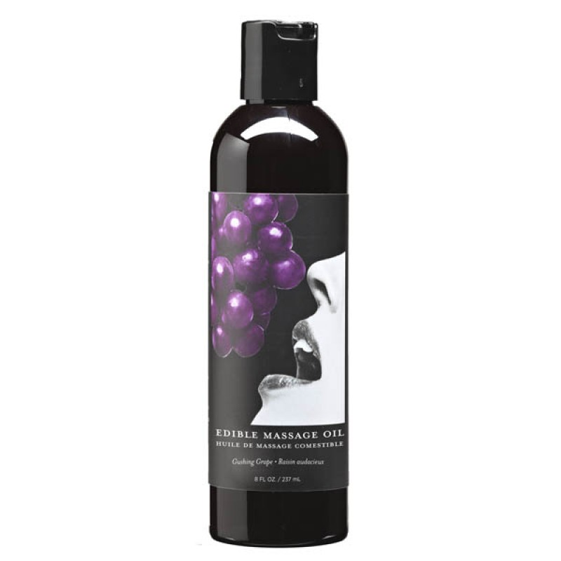 Edible Massage Oil 237 ml Bottle - Grape