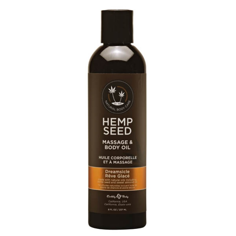 Hemp Seed Massage & Body Oil 237 ml Bottle - Dreamsicle