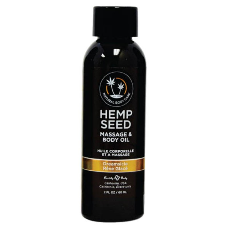 Hemp Seed Massage & Body Oil 59 ml Bottle - Dreamsicle