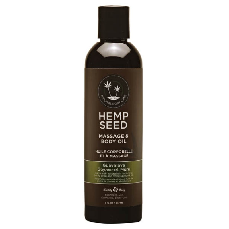 Hemp Seed Massage & Body Oil 237 ml Bottle - Guavalava