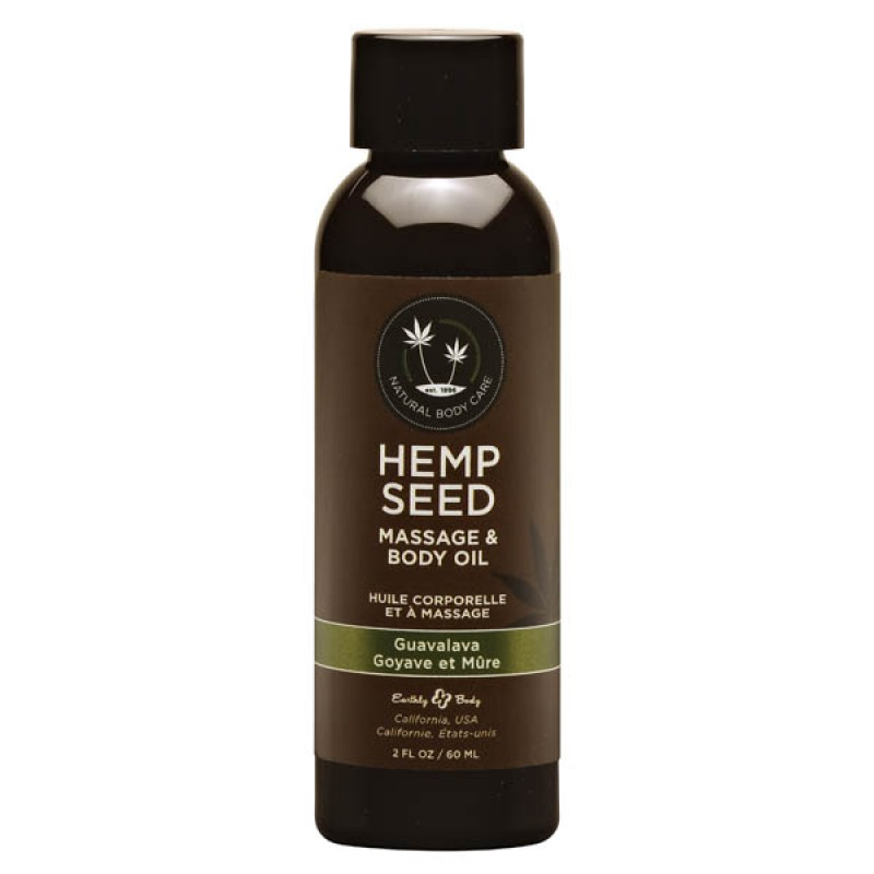 Hemp Seed Massage & Body Oil 59 ml Bottle - Guavalava
