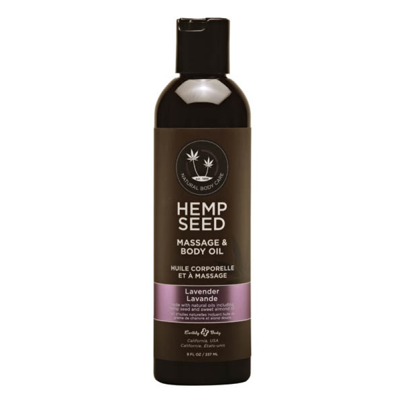 Hemp Seed Massage & Body Oil 237 ml Bottle - Lavender