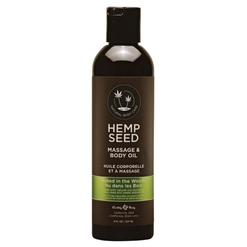 Hemp Seed Massage & Body Oil 237 ml Bottle - Naked In The Woods