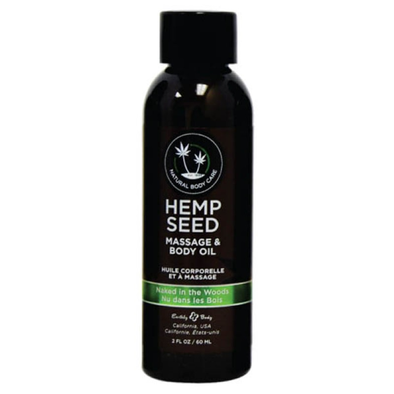 Hemp Seed Massage & Body Oil 59 ml Bottle - Naked In The Woods
