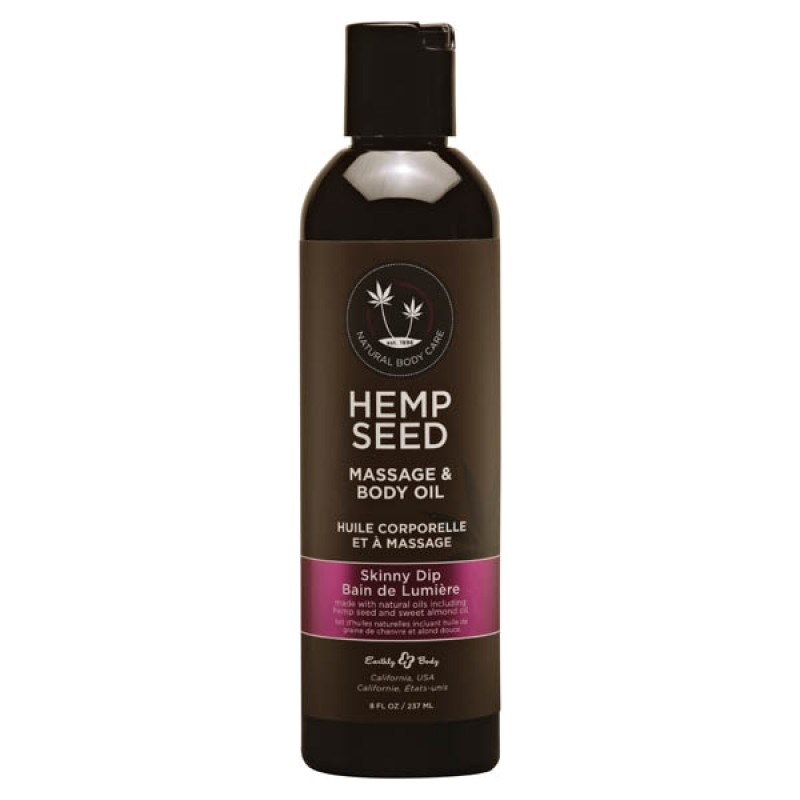 Hemp Seed Massage & Body Oil 237 ml Bottle - Skinny Dip
