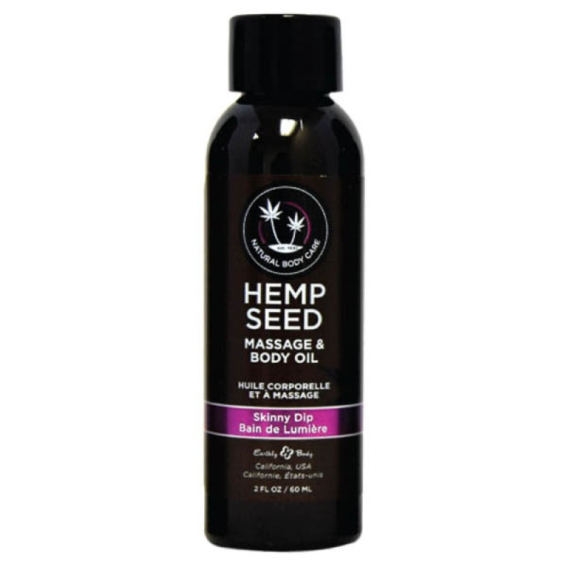 Hemp Seed Massage & Body Oil 59 ml Bottle - Skinny Dip