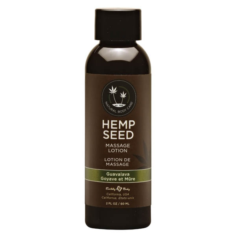 Hemp Seed Massage Lotion 59 ml Bottle - Guavalava