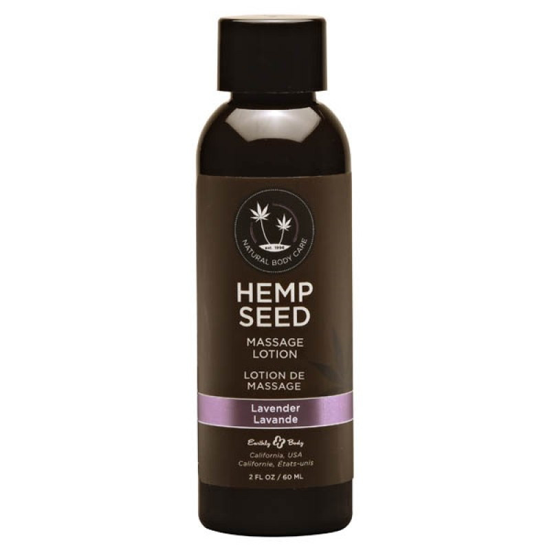 Hemp Seed Massage Lotion 59 ml Bottle - Lavender