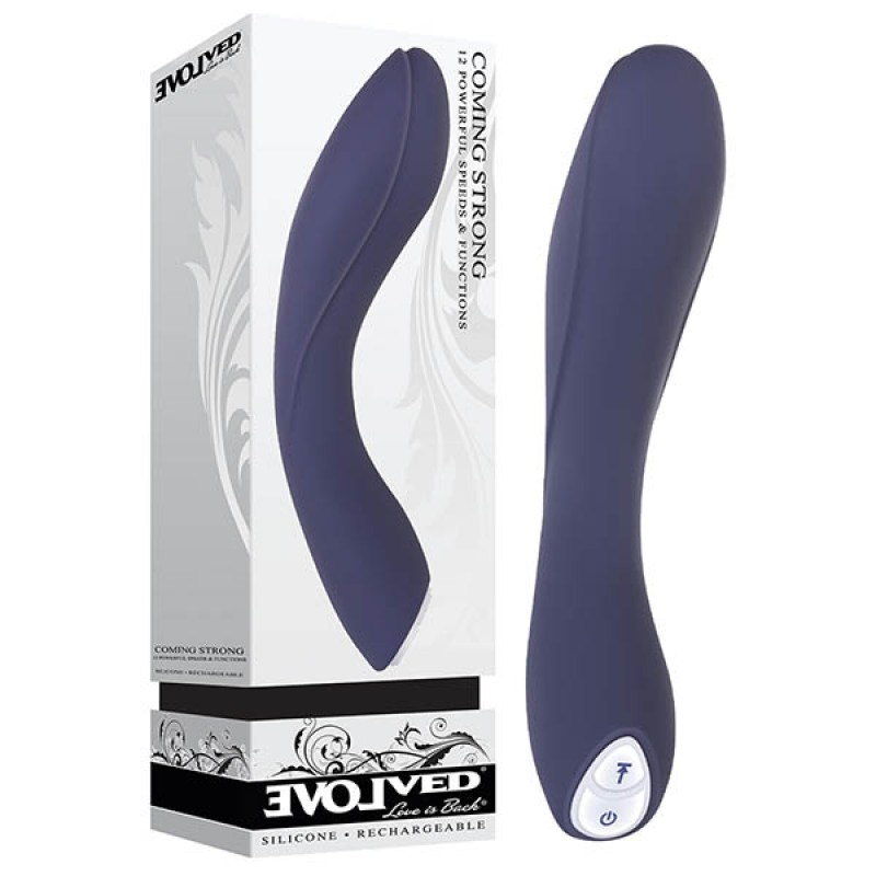 Coming Strong Rechargeable Vibrator - Blue