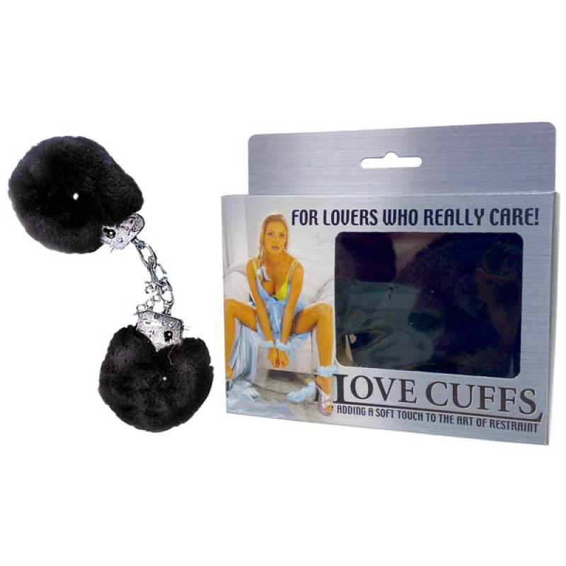 Black Fluffy Love Cuffs
