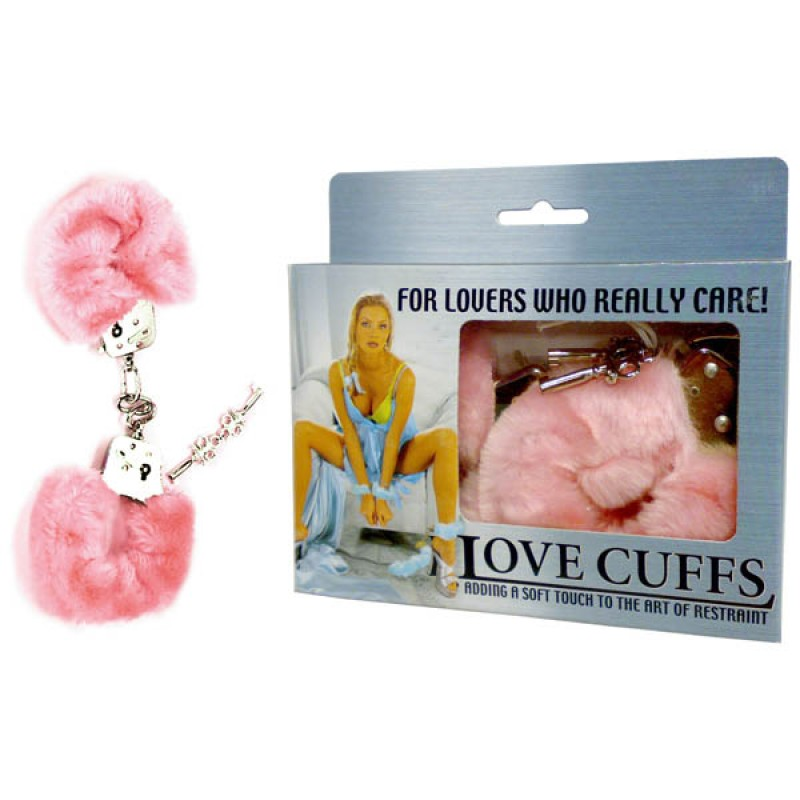 Fluffy Love Cuffs - Pink