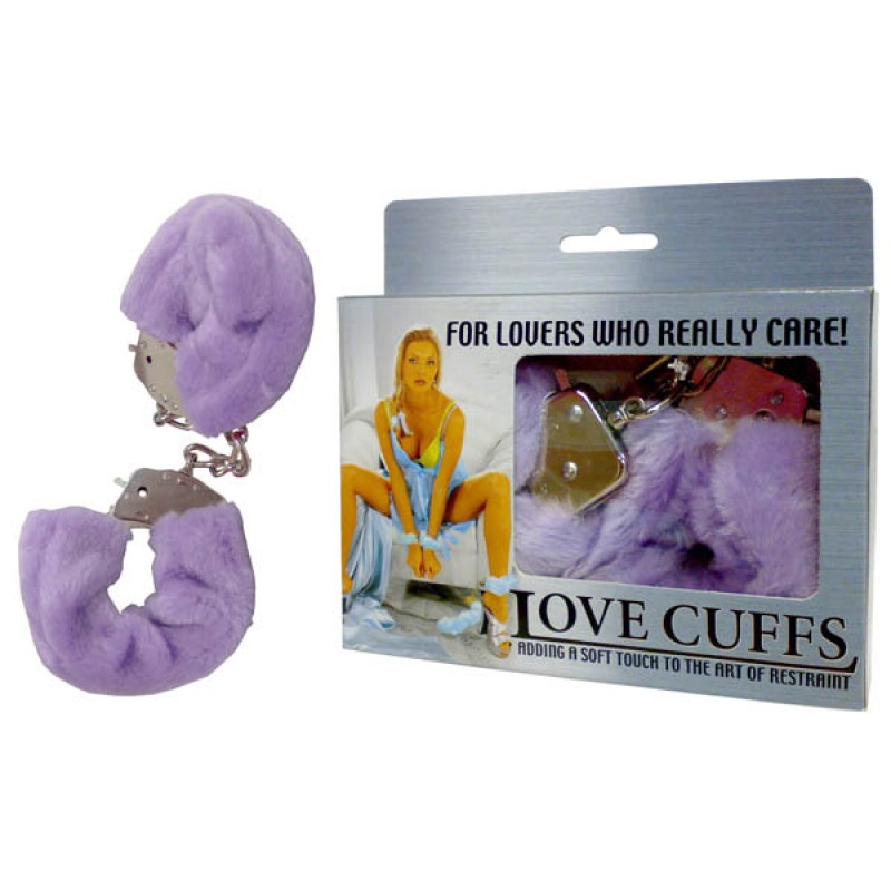 Fluffy Love Cuffs - Purple