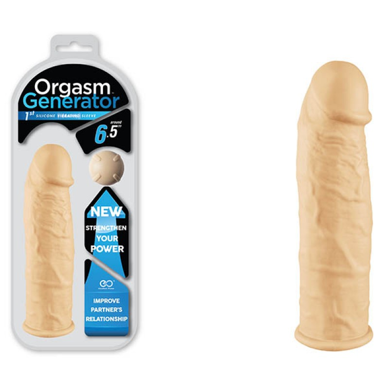 Orgasm Generator 6.5'' Vibrating Sleeve - Flesh