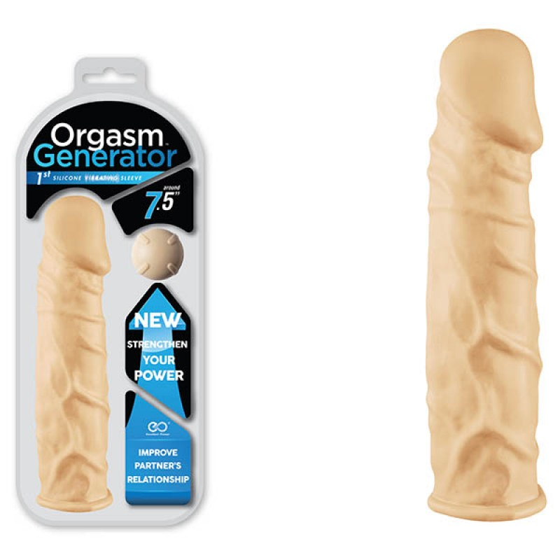Orgasm Generator 7.5'' Vibrating Sleeve - Flesh