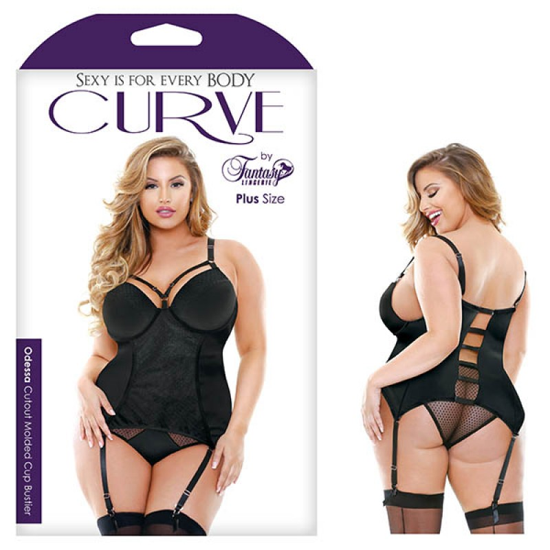 Fantasy Lingerie Curve Odessa Cutout Molded Cup Bustier 1X/2X