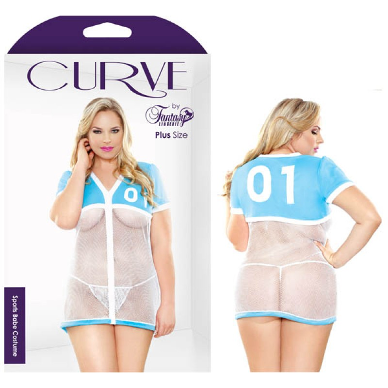 Fantasy Lingerie Curve Sports Babe Costume 1X/2X
