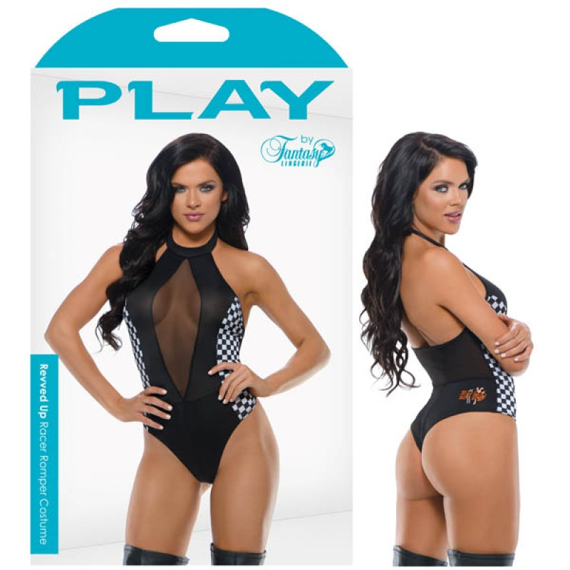 Fantasy Lingerie Play Revved Up Racer Romper Costume S/M
