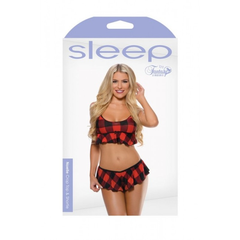 Fantasy Lingerie - Sleep Noelle Crop Top & Shortie - S/M