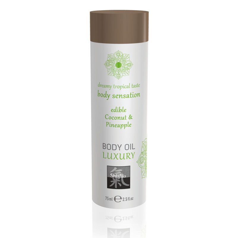 Shiatsu Edible Body Oil Luxury 75ml - Coconut & Pineapple