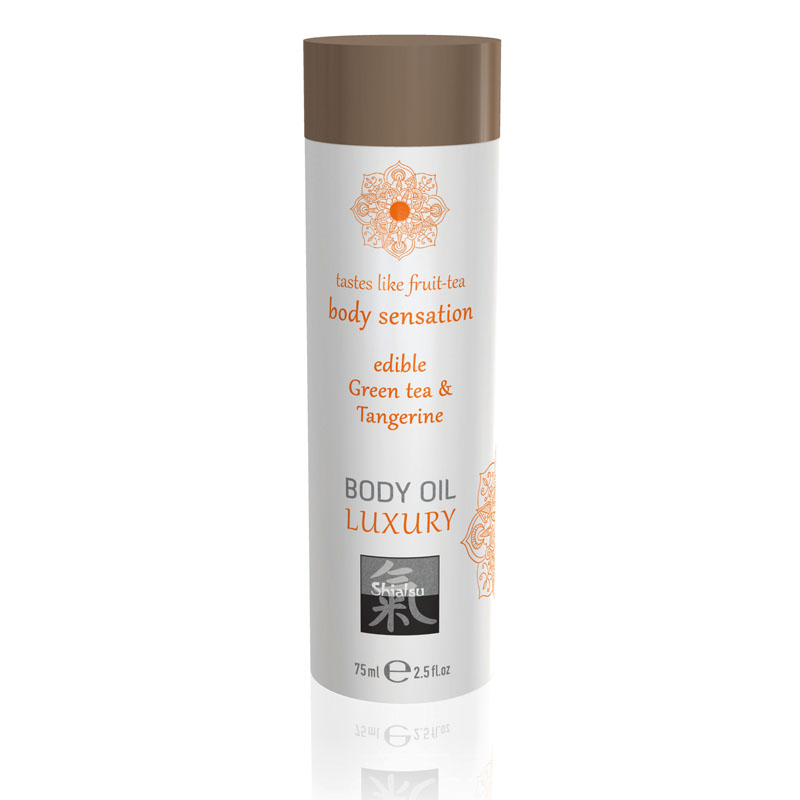 Shiatsu Edible Body Oil Luxury 75ml - Green Tea & Tangerine