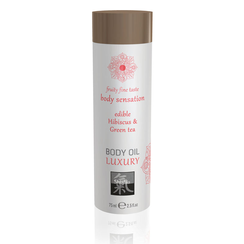 Shiatsu Edible Body Oil Luxury 75ml - Hibiscus & Green Tea