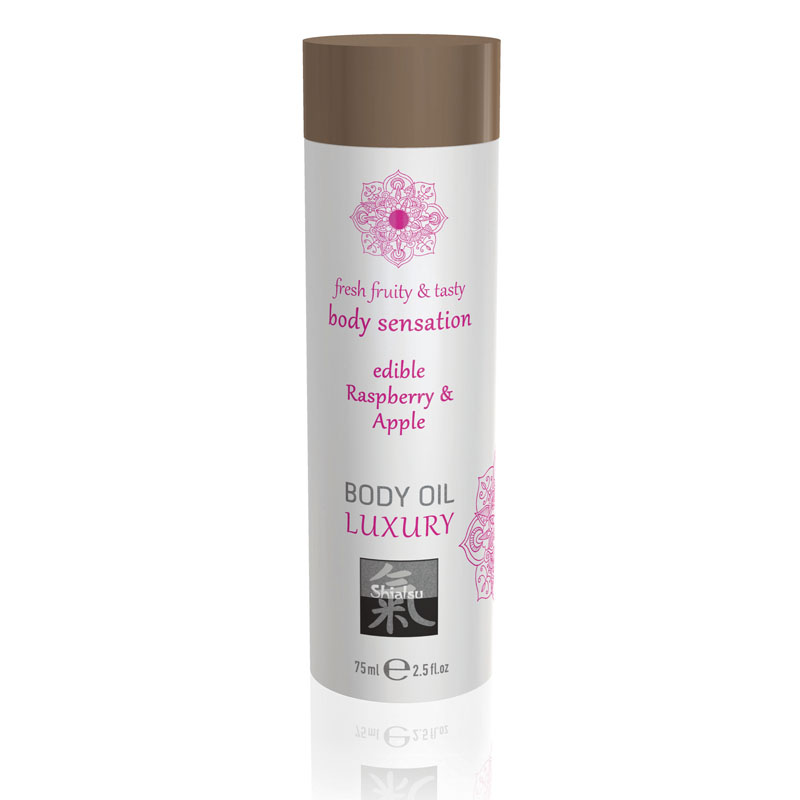 Shiatsu Edible Body Oil Luxury 75ml - Raspberry & Apple