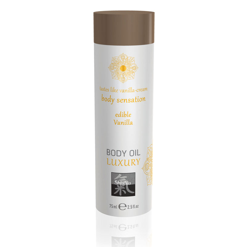 Shiatsu Edible Body Oil Luxury 75ml - Vanilla