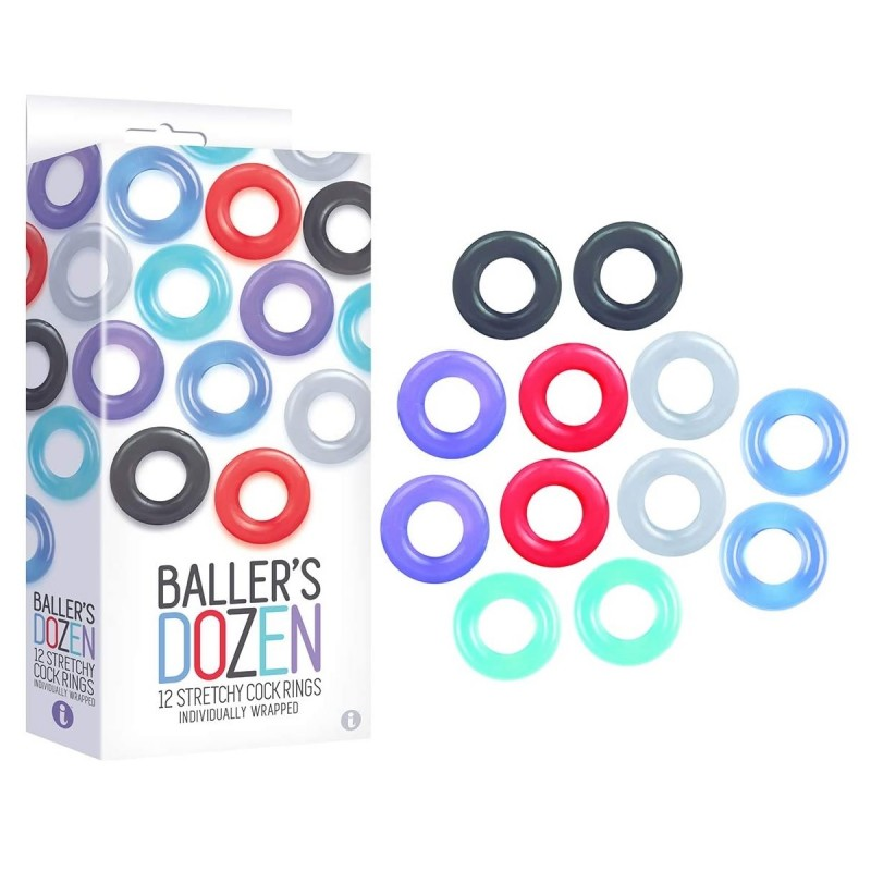 Baller's Dozen 12-Pack Cock Ring Set