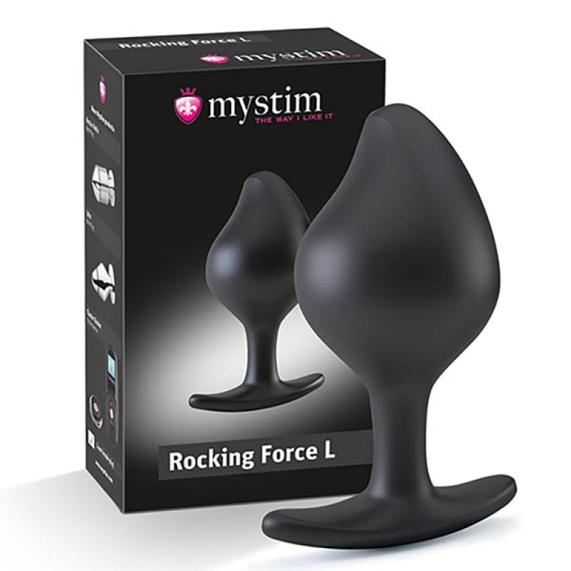 Mystim Rocking Force E-stim Butt Plug - Large