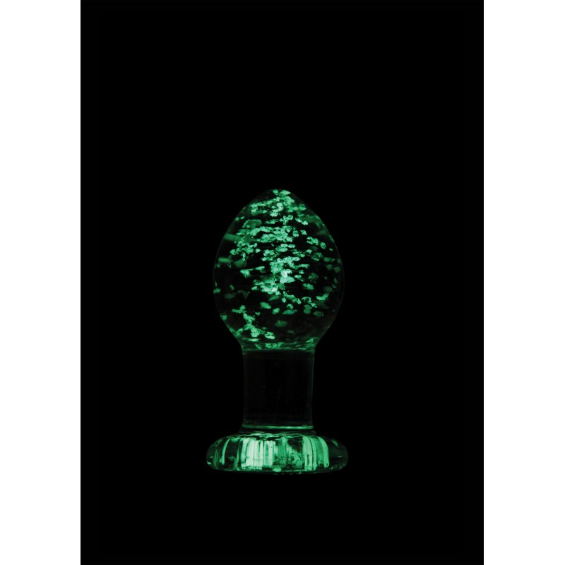 Firefly Glow in the Dark Clear Glass Plug - Medium