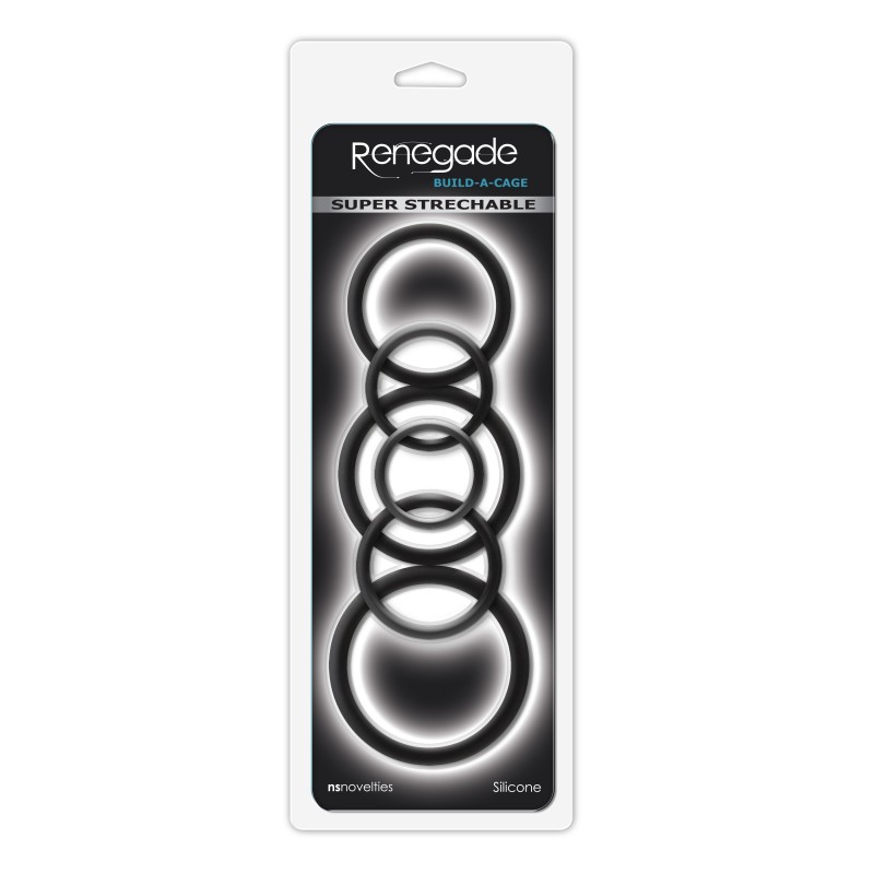 Renegade Build-A-Cage Rings - Black