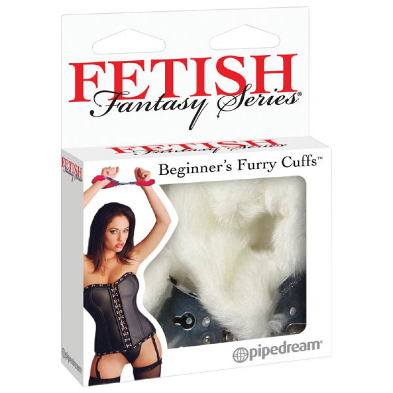 Fetish Fantasy Series Beginner's Furry Cuffs - White
