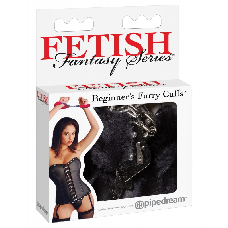 Fetish Fantasy Series Beginner's Furry Cuffs - Black