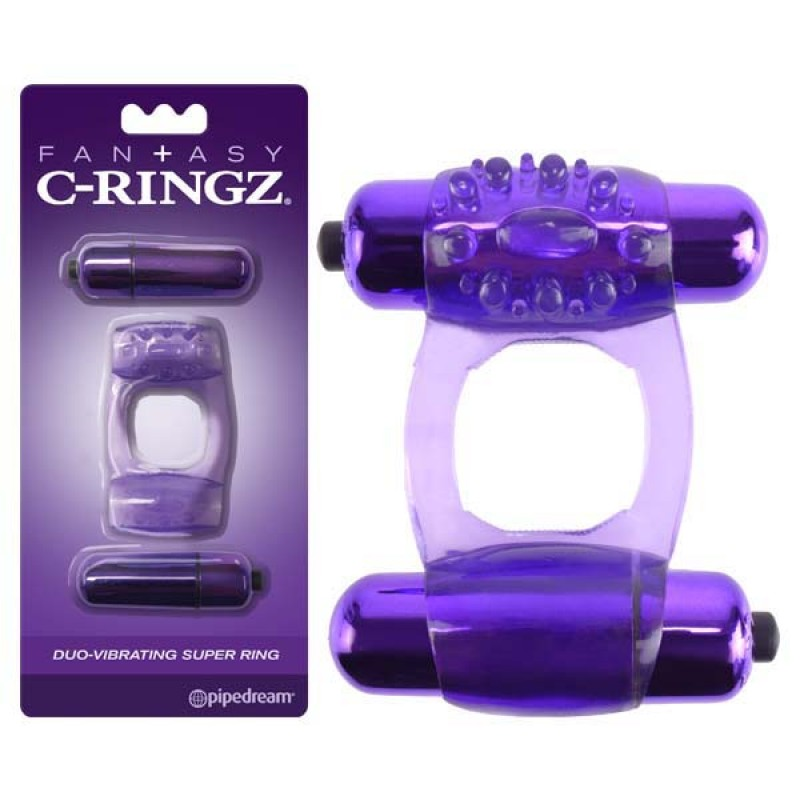 Fantasy C-Ringz Duo-Vibrating Super Ring - Purple