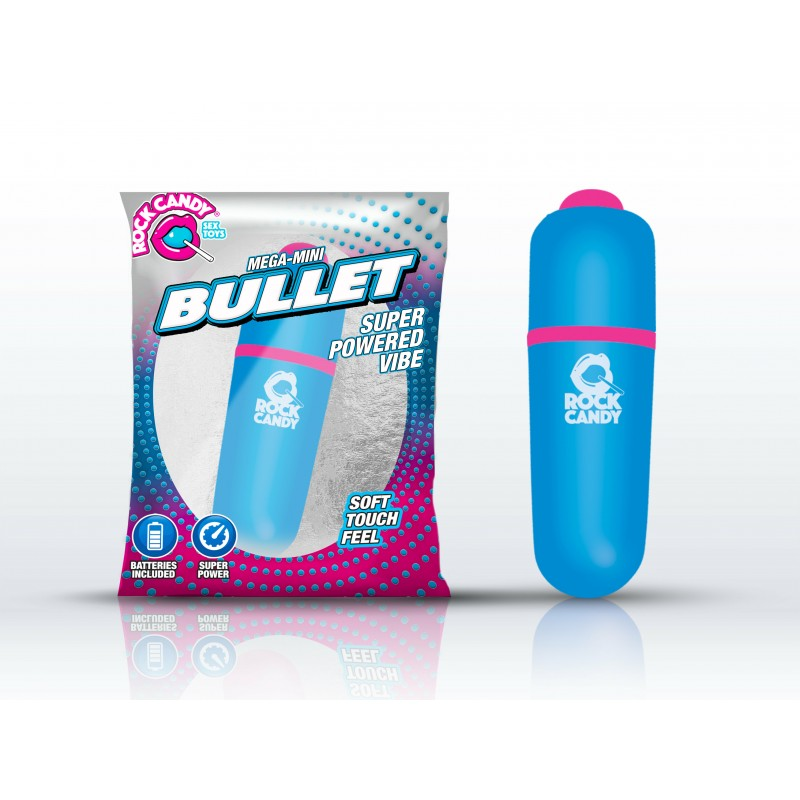 Rock Candy Mega-Mini Bullet Vibrator - Blue
