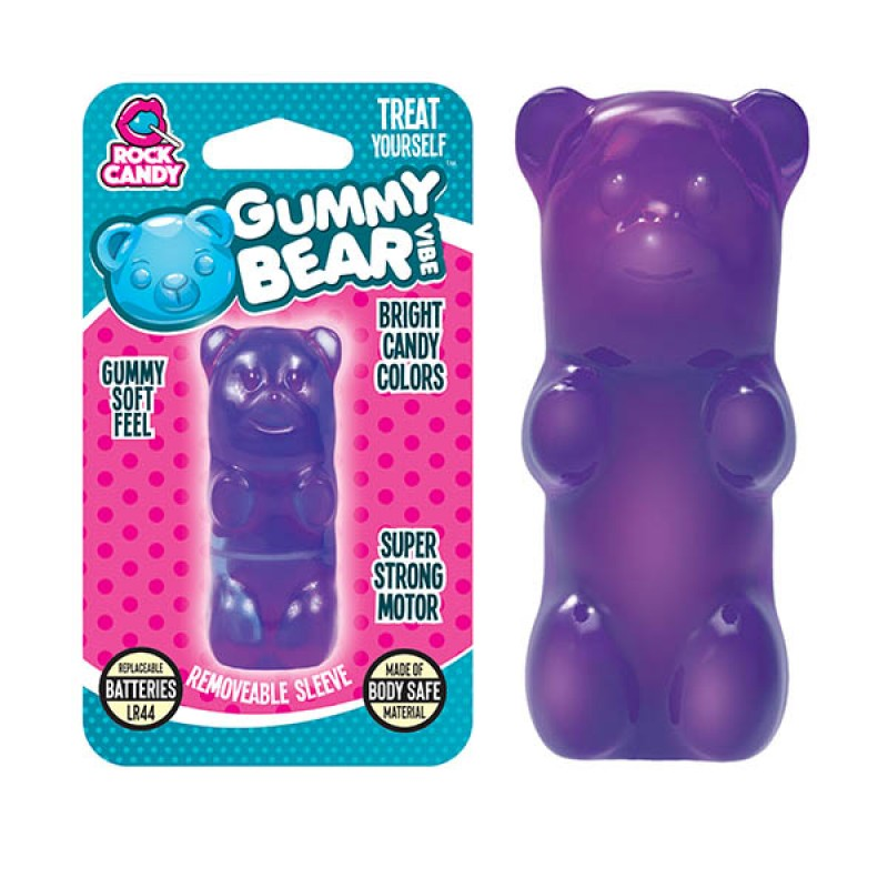Gummy Bear Finger Vibe - Purple (Blister)