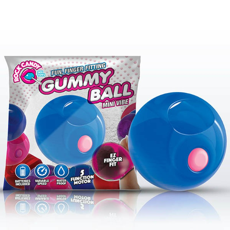 Rock Candy Gummy Ball - Blueberry Blue