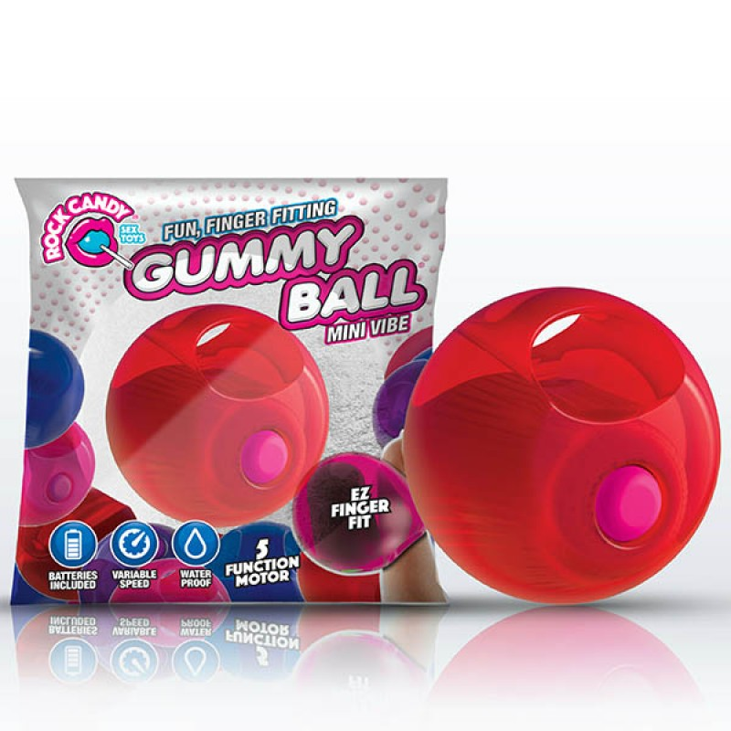 Rock Candy Gummy Ball - Cinnamon Red