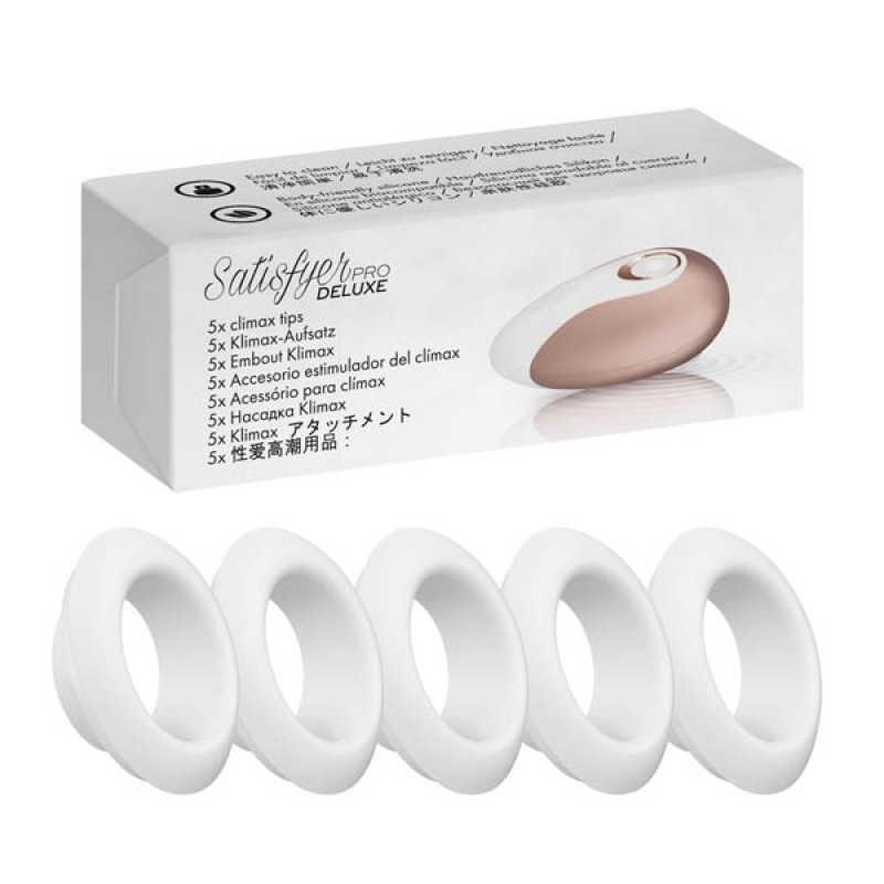 Satisfyer Pro Deluxe Replacement Caps 5-pack