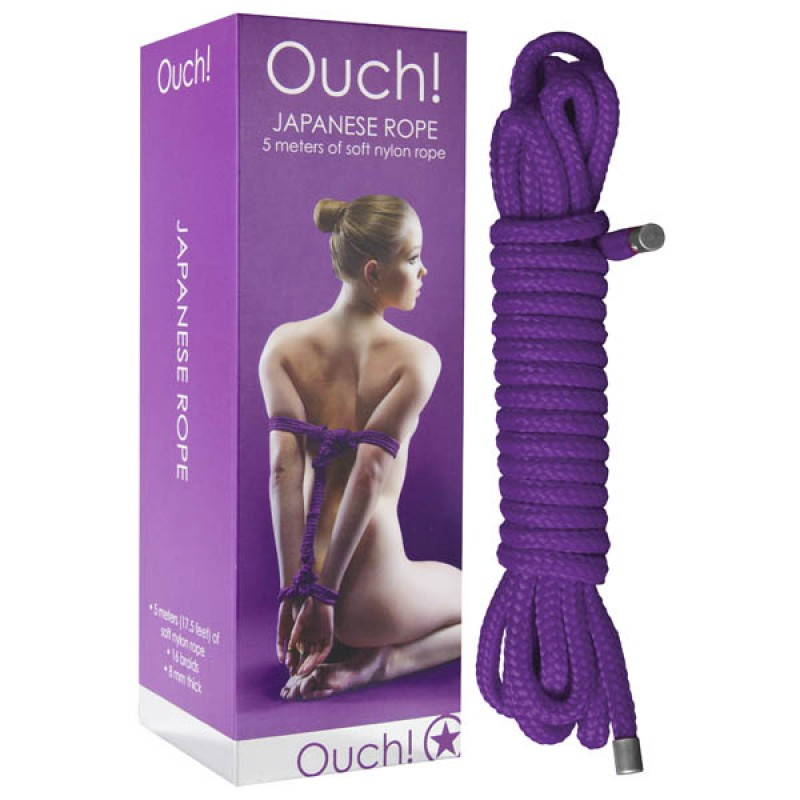 Ouch! Japanese Soft Nylon Rope 5 Metres - Purple