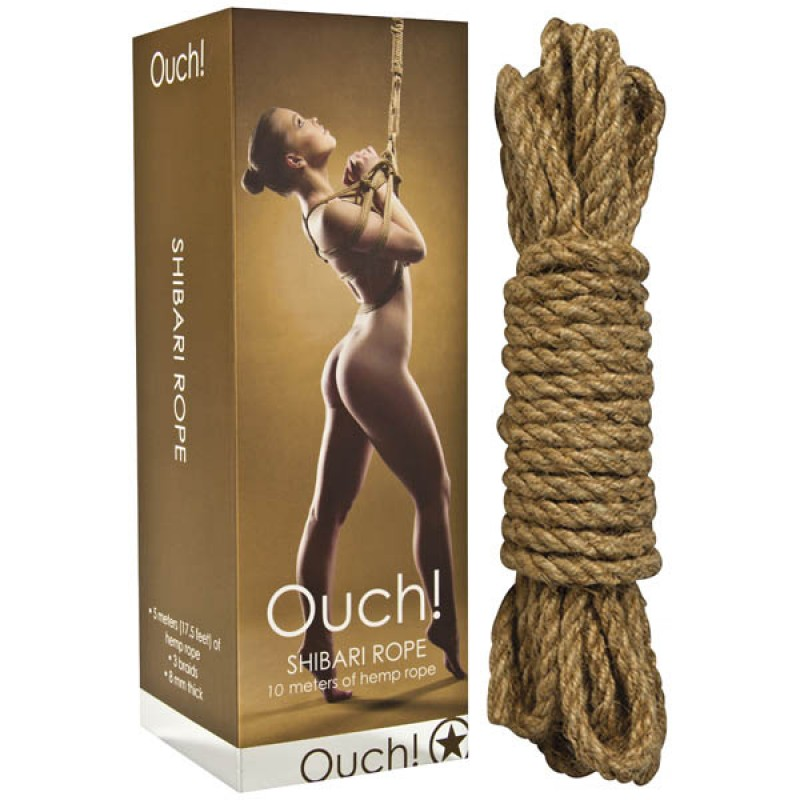 Ouch! Shibari Rope 10m - Brown