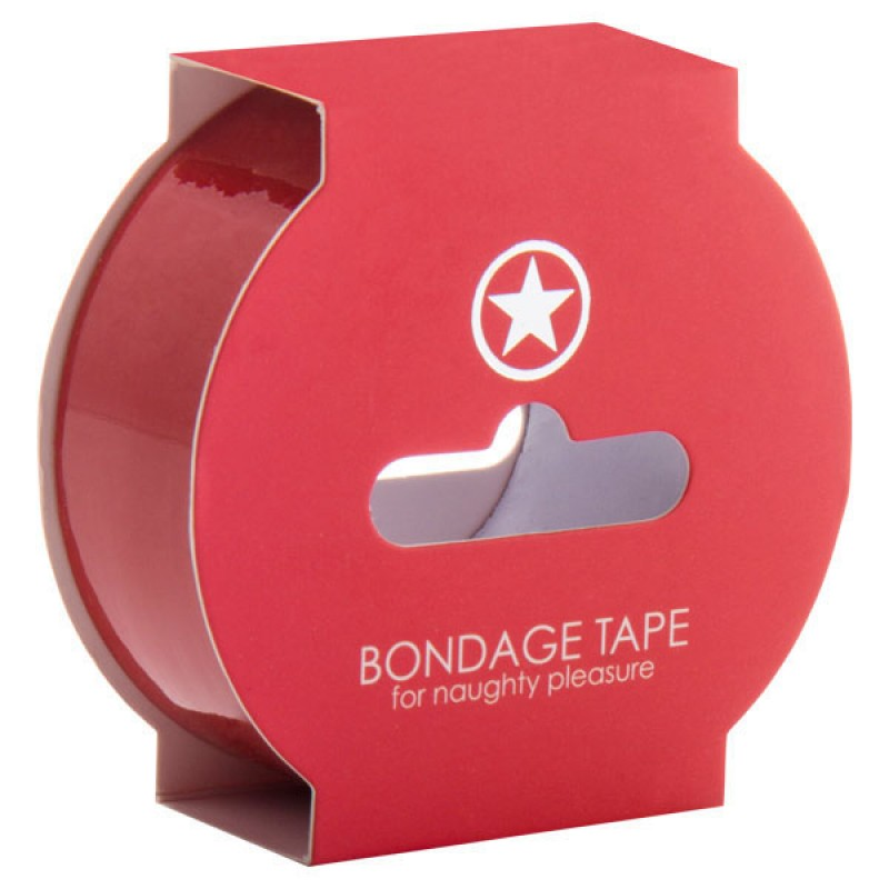 OUCH! Non Sticky Bondage Tape - 17.5m - Red