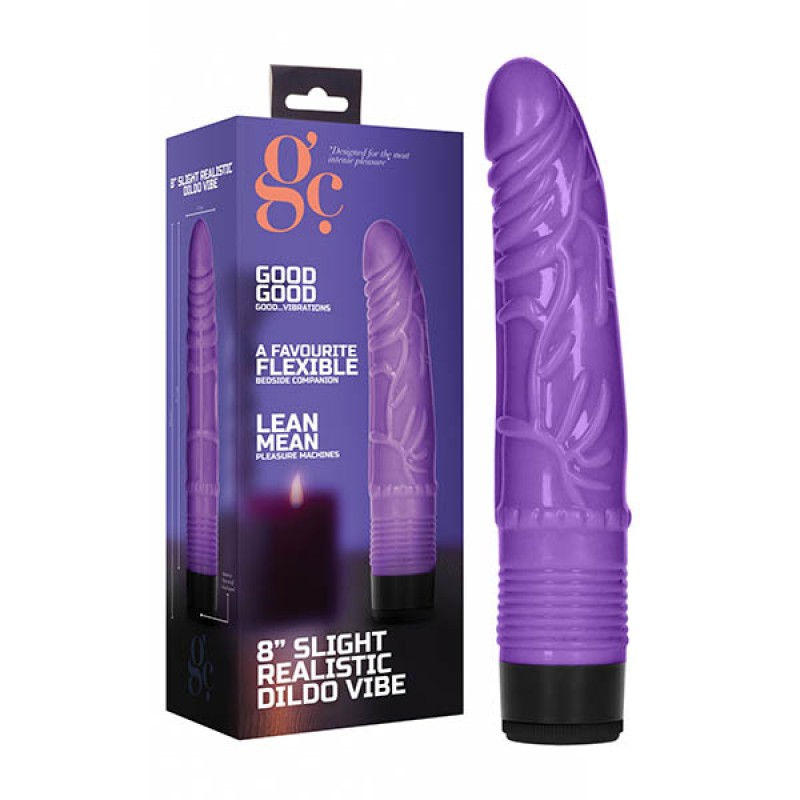 GC. 8'' Slight Realistic Dildo Vibe - Purple