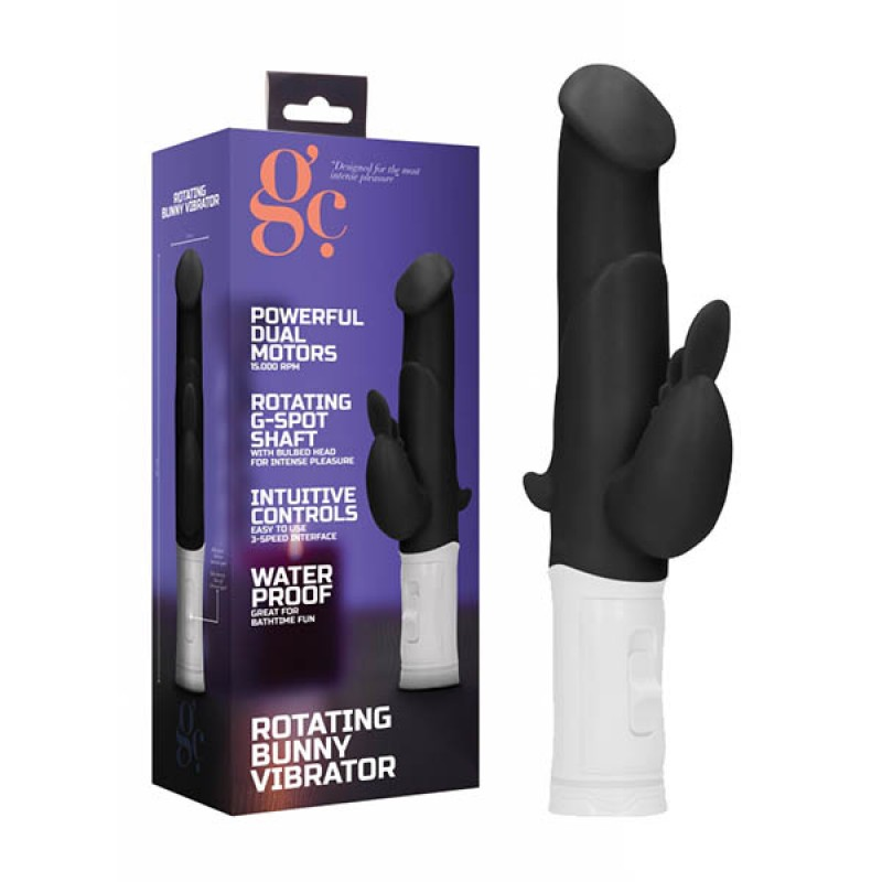 GC. Rotating Bunny Vibrator - Black