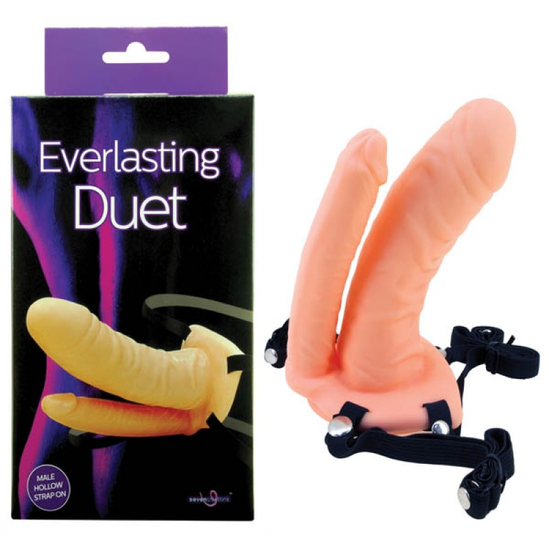 Everlasting Duet Hollow DP Strap-On - Flesh